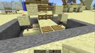 #minecraft 2x2 Fence Gate Door [tutorial] - Revised [most Compact?]