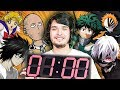 Spoiling Every Anime Ever in Under 1 Minute CHALLENGE