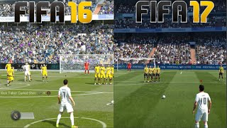 FIFA 17 vs FIFA 16 Gameplay and Graphics Comparison (Xbox One, PS4, PC)