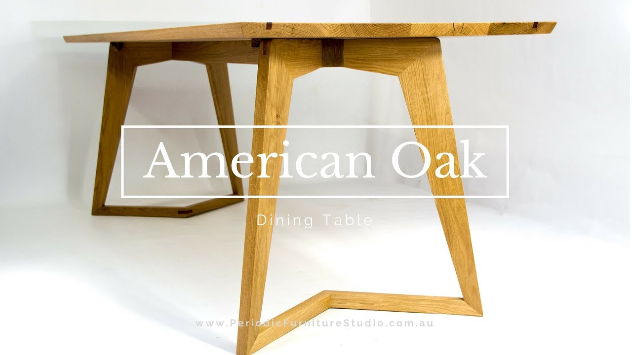 American White Oak Dining Table With A Mid Century Modern Look Client Build
