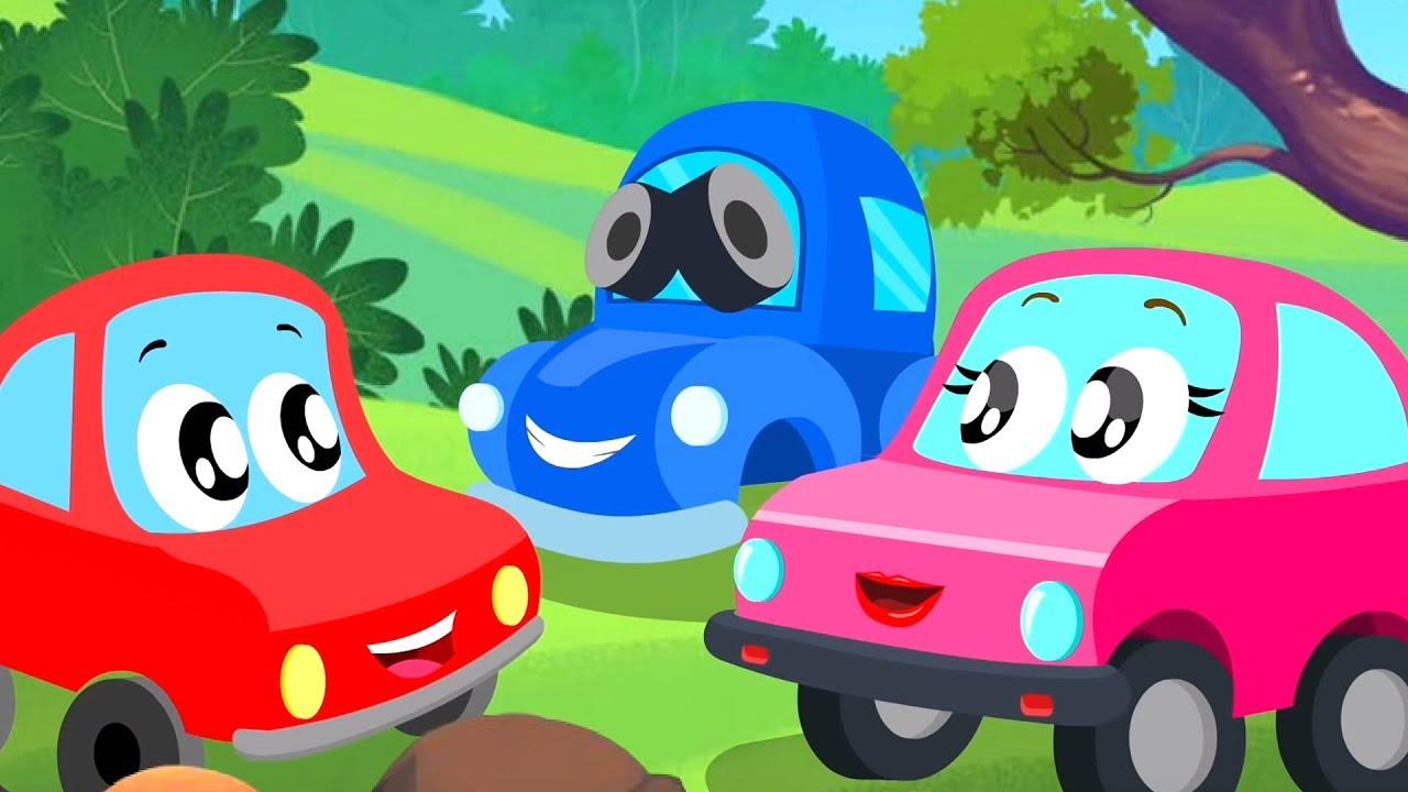 Hide And Seek   Little Red Car   Car Cartoons Videos for Kids