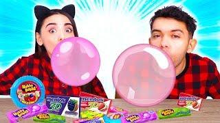 cine face cel mai mare balon bubble gum challenge