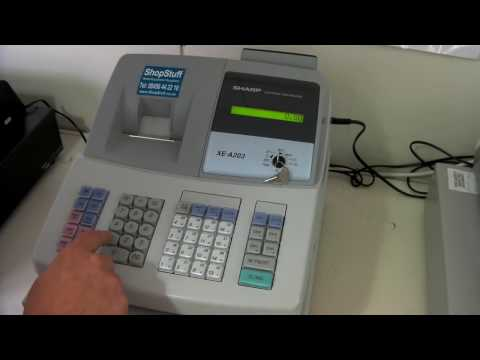 Sharp Xea-203 Cash Register Demonstration and basic operation.