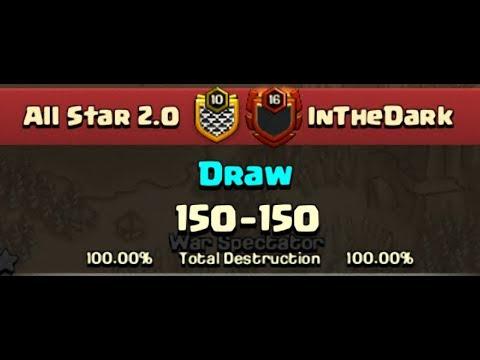 InTheDark Losts 54 Win Streak By All Star 2.0 Vietnam Clan | Biggest War 2018 Clash of Clans