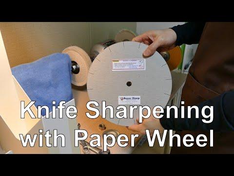 페이퍼휠로 칼 연마하기(Knife Sharpening with Paper Wheel)