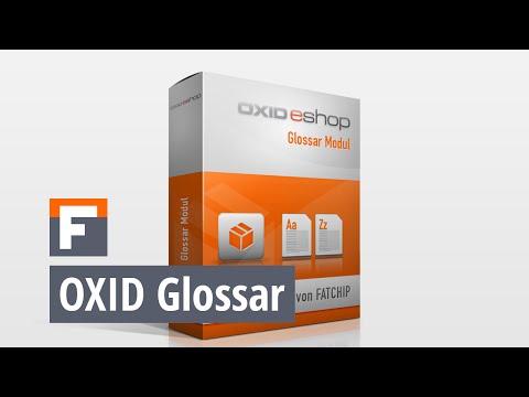 OXID Glossar Modul Tutorial Administration