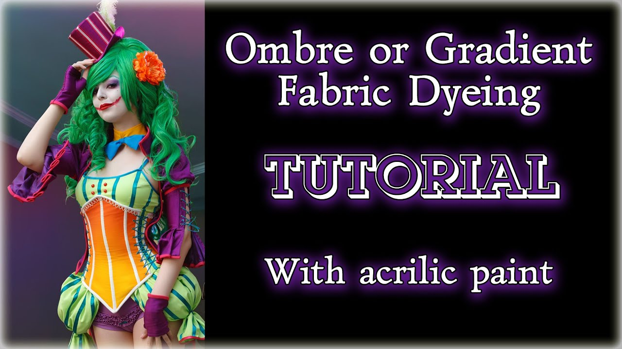 How to make fabric dye - Ombre Or Gradient Fabric Dyeing Tutorial With Acrilic Paint Eng Sub Youtube
