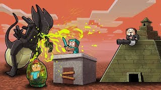 Minecraft - ALIEN QUEEN BASE CHALLENGE! (NOOB vs PRO vs HACKER)