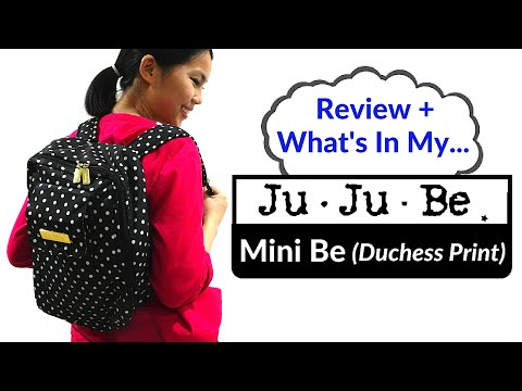 Review + What's In My JuJuBe Mini Be (Duchess Print) | BabyScoops
