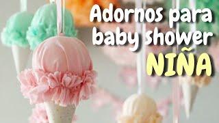 40 Adornos para decorar tu baby shower * Niña* HD