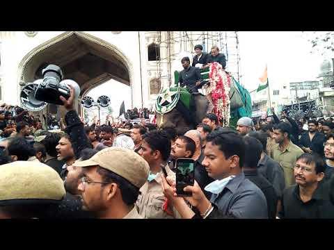 Hyderabad C.P. paying respect to Bibi ka Alam on the day of Ashoora at charminar 2018