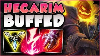 RIOT 100% BROKE HECARIM WITH THESE NEW Q BUFFS! HECARIM SEASON 8 TOP GAMEPLAY! - League of Legends