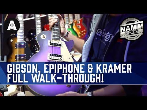 Full Walk-through Of The New Gibson, Epiphone & Kramer Booth! - NAMM 2020