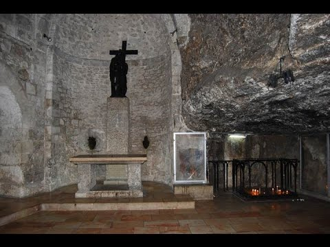 The place where the True Cross of Jesus was found - Church of the Holy Sepulchre Jerusalem