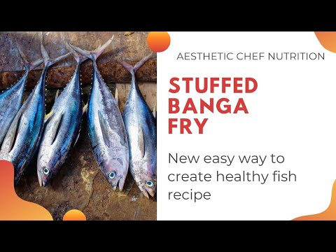 Stuffed bangda masala fish (Indian mackrel) healthy way