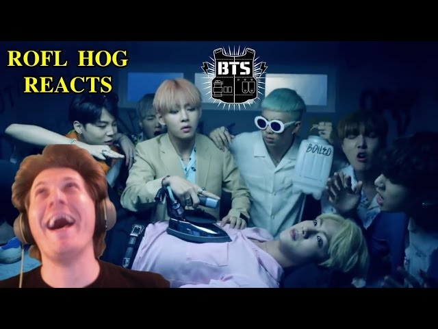 ROFL Hog Reacts to K Pop part 1/2 - BTS Fire