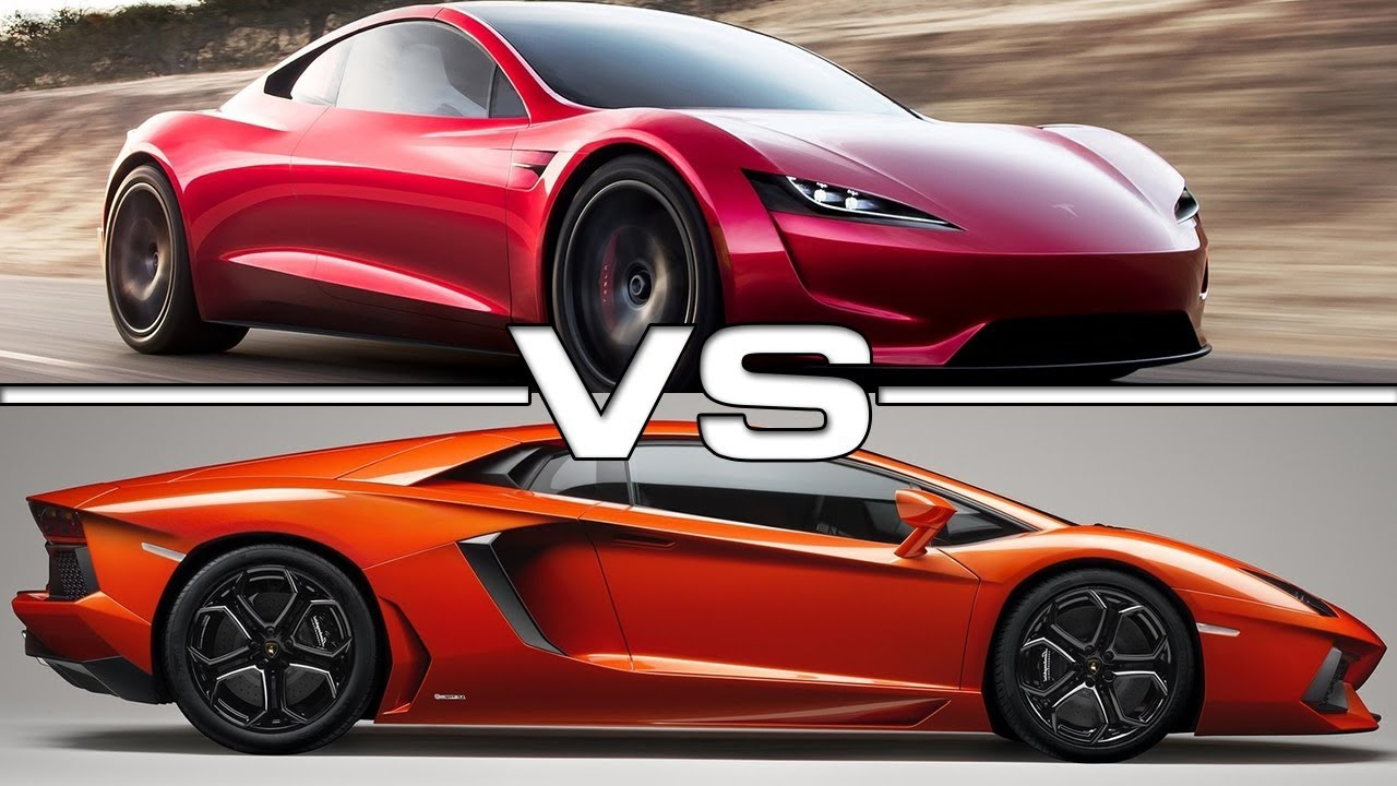 2020 tesla roadster vs 2017 lamborghini aventador s youtube. Black Bedroom Furniture Sets. Home Design Ideas