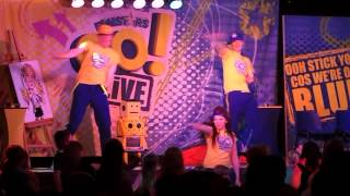 Repeat youtube video bring the house down. funstars  Robbie,  Chris and  Holly Golden Sands 2013