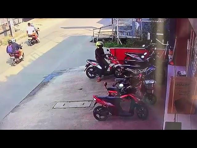 CCTV detik detik maling motor GAGAL