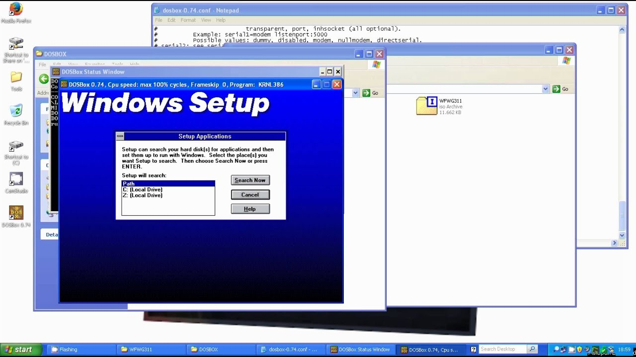 How To: Install Windows 3 1 under DOSBOX (ENG)