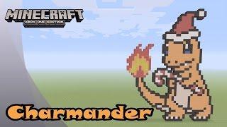 Minecraft: Pixel Art Tutorial and Showcase: Christmas Charmander