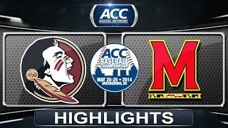Florida State vs Maryland | 2014 ACC Baseball Championship Highlights