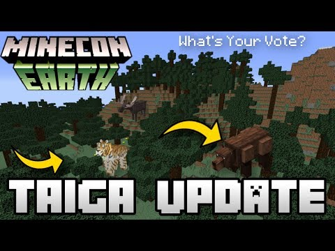 Minecraft  TAIGA UPDATE  BIOME   Minecon Vote  MCPE  Xbox  Switch  Bedrock  JAVA