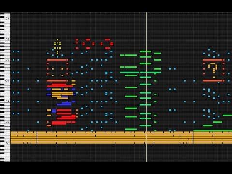 MIDI Drawing No. #22 - Super Mario 2