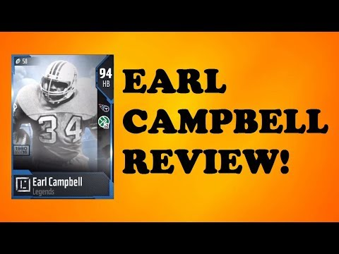 How Good is 94 Overall Earl Campbell? MUT 18 Card Review
