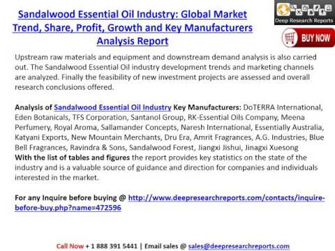 Global Sandalwood Essential Oil Market 2017 Industry Growth Analysis and 2022 Forecasts