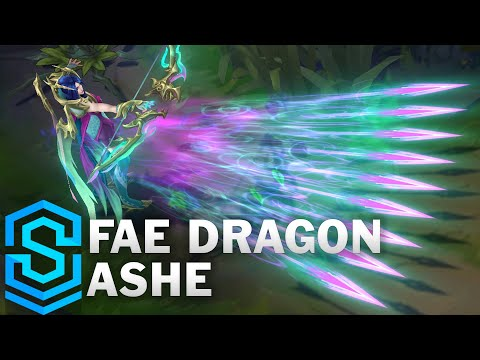 Fae Dragon Ashe Skin Spotlight - League of Legends
