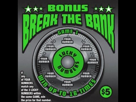 $5 Bonus Break The Bank Texas Lottery Scratch Off Ticket