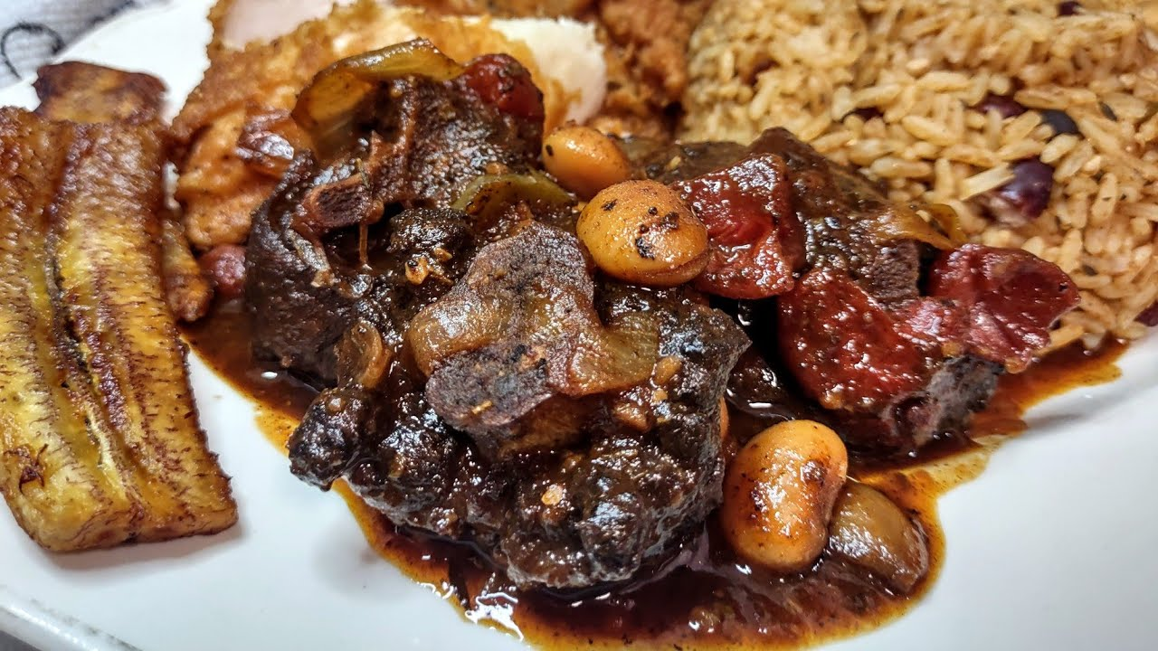 THE ULTIMATE🇯🇲JAMAICAN BROWN STEW OXTAIL AND BUTTER BEAN RECIPE STEP BY STEP🍛