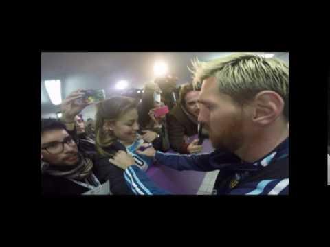 La periodista mendocina que logró que Messi le estampara su firma