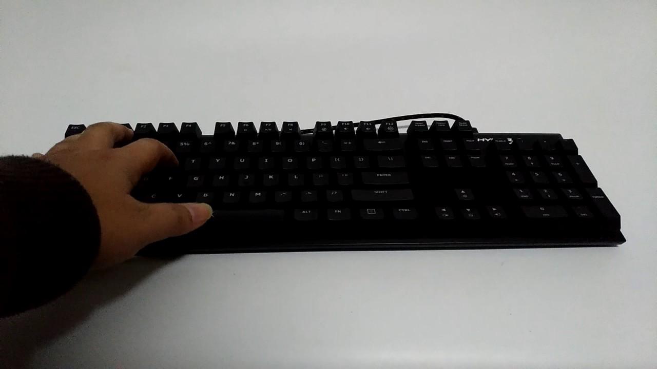 HyperX Alloy FPS 機械式鍵盤 - YouTube