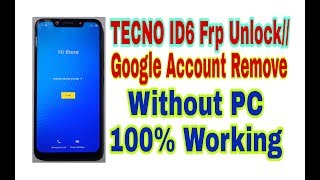 How To Bypass Tecno L8 Google Account