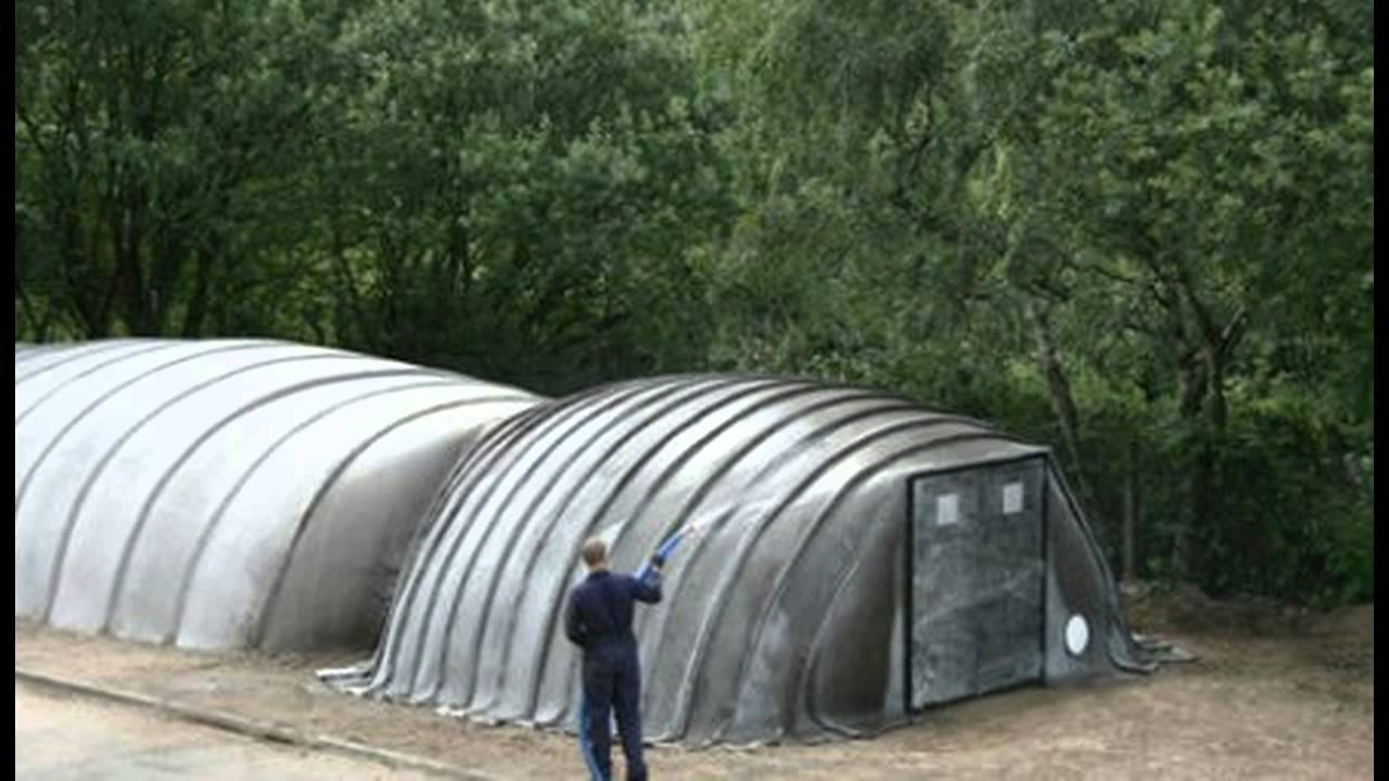 Survival Shelters: Inflatable Concrete Buildings Built with Air and Water
