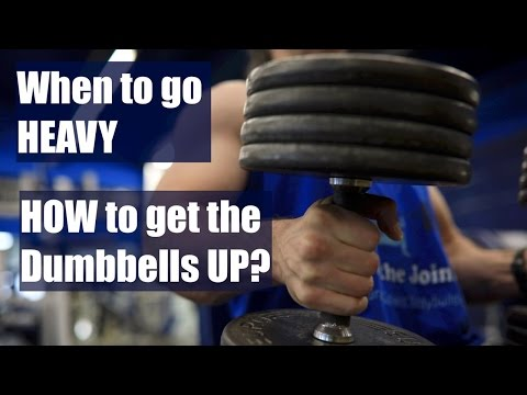 How to Get the Dumbbells Up for Shoulder Presses, and When to Go Heavy