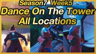 "Fortnite - Season 7 Week 5 ""Dance On Top Of Water Tower, Ranger Tower, Control Tower"" Location"