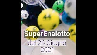 SuperEnalotto 26 Giugno 2021