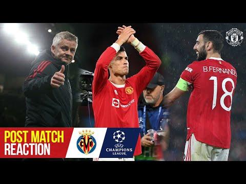 Solskjaer, Ronaldo & Fernandes react to crucial win | Manchester United 2-1 Villarreal | UCL