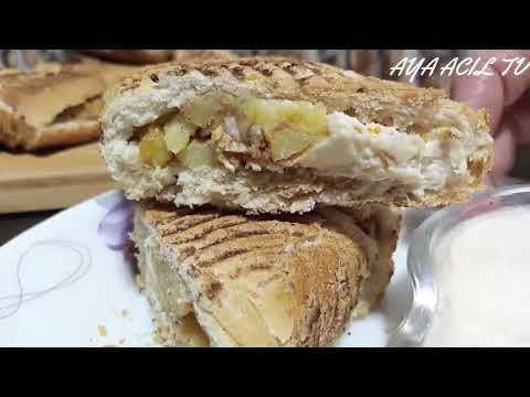 اسهل وابسط شاورمة او طاكوس بالخبز الصابح الاكلة المحبوبة عند الجميع بدون تعب في 30دقيقة فقط