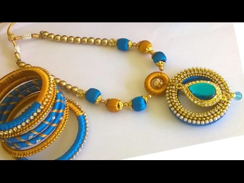 Silk thread jewellery necklace designs silk thread necklace silk thread jewellery necklace designs silk thread necklace tutorial youtube solutioingenieria Image collections