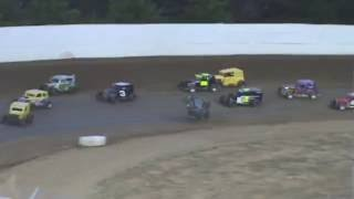 Grays Harbor Raceway Gary Brogan Dwarf Car Flip