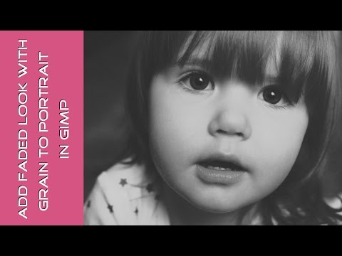 Add grainy film look to a portrait in GIMP tutorial thumbnail