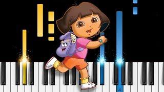 Dora the Explorer Theme Song - Piano Tutorial & Sheets