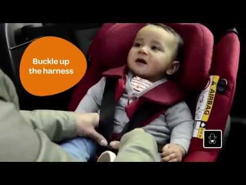 AxissFix(車への装着方法)[乳幼児用カーシート]