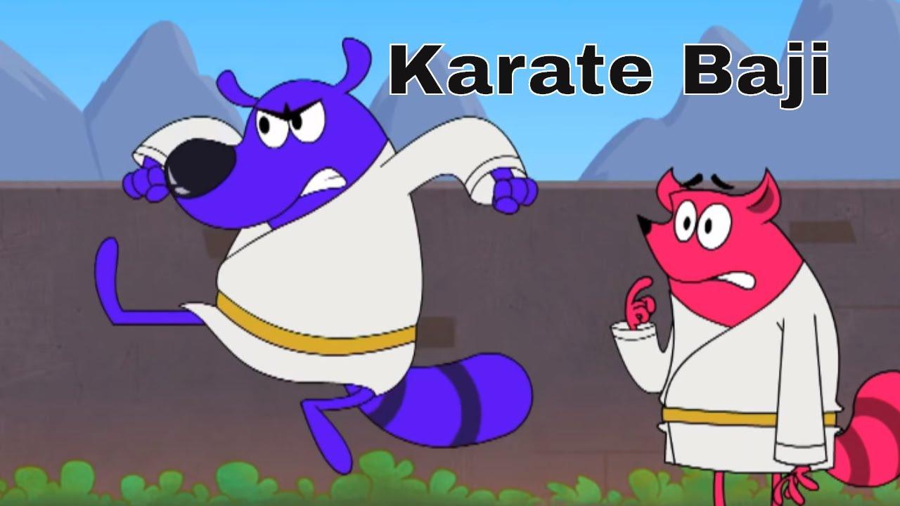 Karate Baji Ep - 13 - Pyaar Mohabbat Happy Lucky - Hindi Animated Cartoon Show - Zee Kids