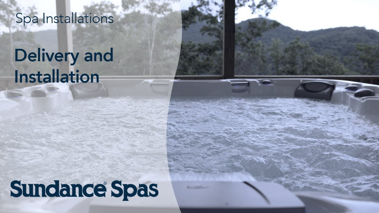 sundance spa 880 wiring diagram sundance spas delivery and installation time lapse  [ 1280 x 720 Pixel ]