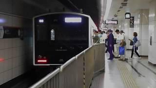 西唐津行き最終列車(305系W6編成)・博多駅に到着